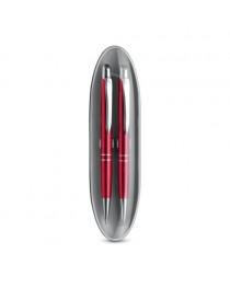 Marieta Set. Set con penna a sfera e matita portamina - Rosso