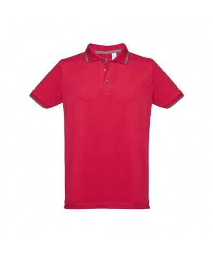 "THC ROME. Polo ""slim fit"" da uomo - Rosso"