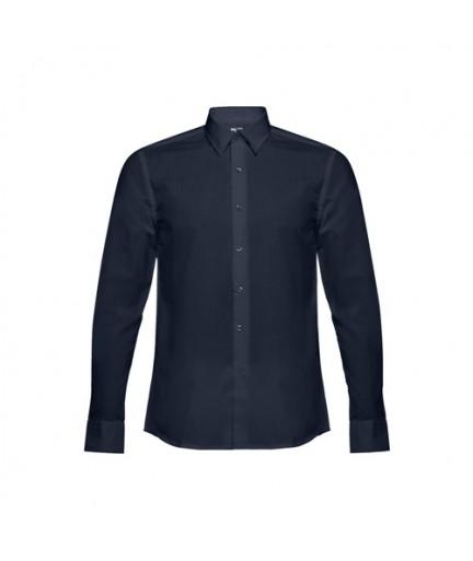 THC BATALHA. Camicia popeline da uomo - Blu scuro