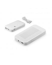 FUSION. Batteria portatile con cassa altoparlante - Bianco