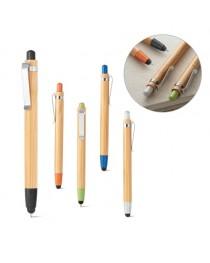 BENJAMIN. Penna a sfera in bambù - Arancione