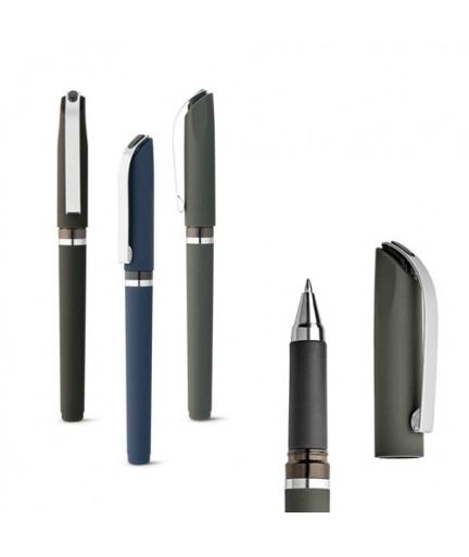 BOLT. Penna a sfera in ABS con clip in metallo - Blu scuro