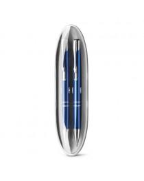 BETA SET. Set con penna a sfera e matita portamine in metallo - Blu reale