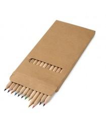 CROCO. Scatola con 12 matite colorate - Naturale