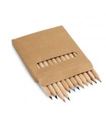 COLOURED. Scatola con 12 matite colorate - Naturale