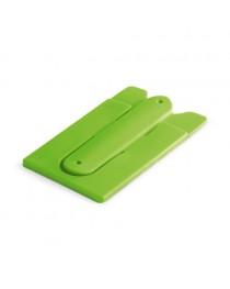 CARVER. Porta tessere con supporto per cellulare - Verde chiaro