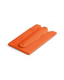 CARVER. Porta tessere con supporto per cellulare - Arancione