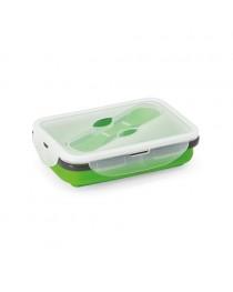 SAFFRON. Scatola portavivande pieghevole da 640 ml - Verde chiaro