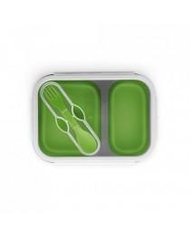 DILL. Scatola portavivande pieghevole da 480 e 760 ml - Verde chiaro