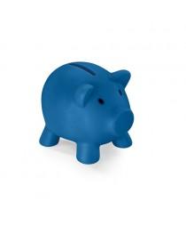 PIGGY. Salvadanaio in PVC - Blu