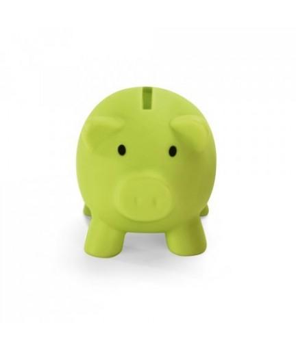 PIGGY. Salvadanaio in PVC - Verde chiaro