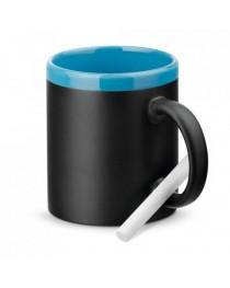 CHALKIE. Tazza in ceramica da 350 ml - Azzurro