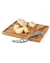 MALVIA. Tagliere per formaggi in bambù con coltello - Naturale