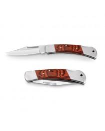 FALCON II. Coltello tascabile in acciaio inox e legno - Naturale scuro