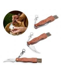 GUNTER. Coltello tascabile in acciaio inox e legno - Naturale