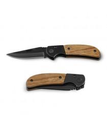 SPLIT. Coltello tascabile in acciaio inox e legno - Naturale