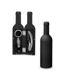 VINET. Set per il vino in metallo - Nero