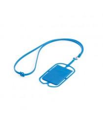 NICOLAUS. Porta tessere con supporto per cellulare - Blu