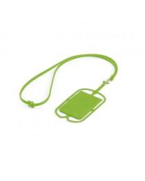 NICOLAUS. Porta tessere con supporto per cellulare - Verde chiaro