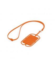NICOLAUS. Porta tessere con supporto per cellulare - Arancione