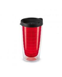 GASOL. Bicchiere da viaggio da 450 ml - Rosso