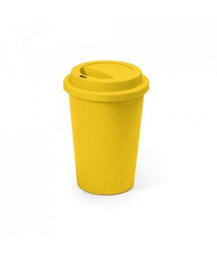 BACURI. Bicchiere da viaggio da 450 ml - Giallo