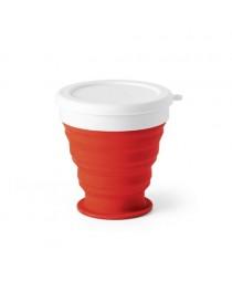 ASTRADA. Bicchiere da viaggio pieghevole da 250 ml - Rosso