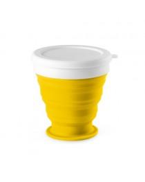 ASTRADA. Bicchiere da viaggio pieghevole da 250 ml - Giallo