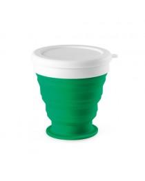 ASTRADA. Bicchiere da viaggio pieghevole da 250 ml - Verde
