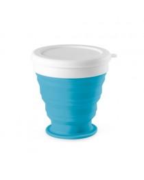ASTRADA. Bicchiere da viaggio pieghevole da 250 ml - Azzurro