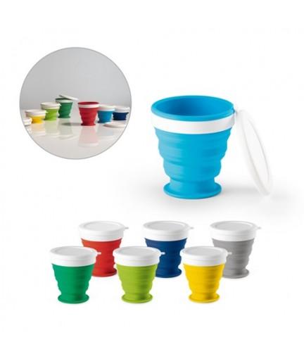 ASTRADA. Bicchiere da viaggio pieghevole da 250 ml - Blu