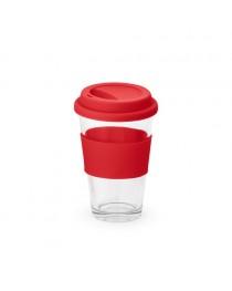 BARTY. Bicchiere da viaggio da 330 ml - Rosso