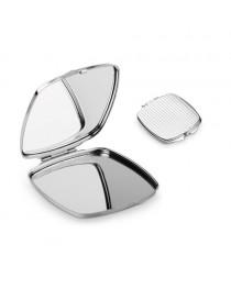 SHIMMER. Specchietto da borsetta doppio - Cromato