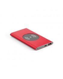 CASSINI. Batteria portatile e caricatore wireless - Rosso
