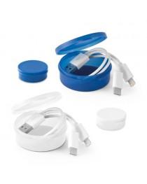EMMY. Cavo USB con connettore 3 in 1 - Bianco
