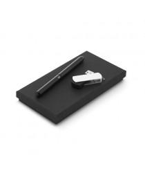 Thales. Set di penna a sfera e memoria USB, 4GB - Nero