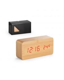 DARWIN. Orologio da tavolo in legno MDF - Naturale chiaro