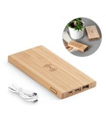 FITCH. Batteria portatile con caricatore wireless 5'000 mAh - Naturale