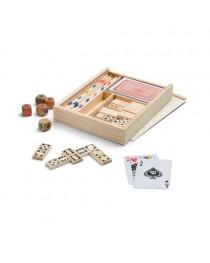 PLAYTIME. Set di giochi 4 in 1 - Naturale chiaro