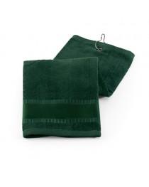 GOLFI. Asciugamano da golf in cotone - Verde scuro