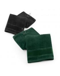 GOLFI. Asciugamano da golf in cotone - Nero