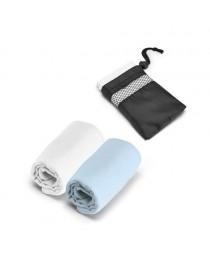 TRAVIS. Asciugamano sportivo in microfibra - Azzurro