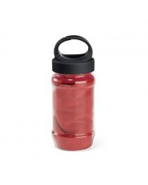 ARTX PLUS. Asciugamano sportivo con borraccia - Rosso